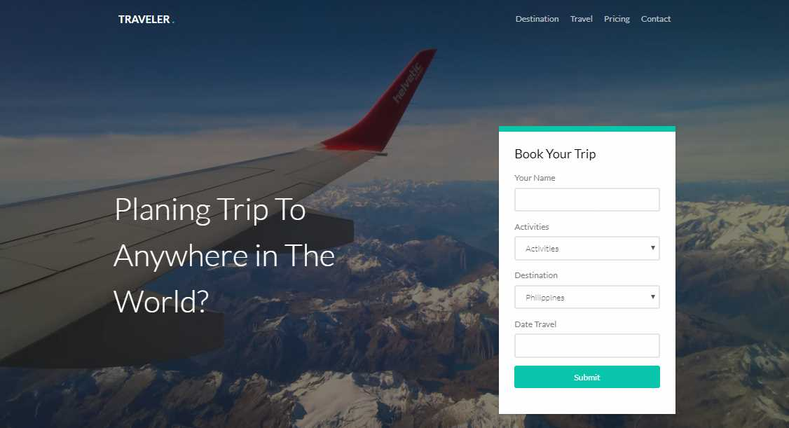 Traveler: Free HTML5 Bootstrap Template for Travel and Hotel Websites