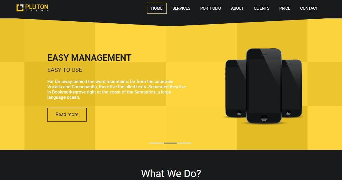 Pluton: A Single Page Portfolio Template