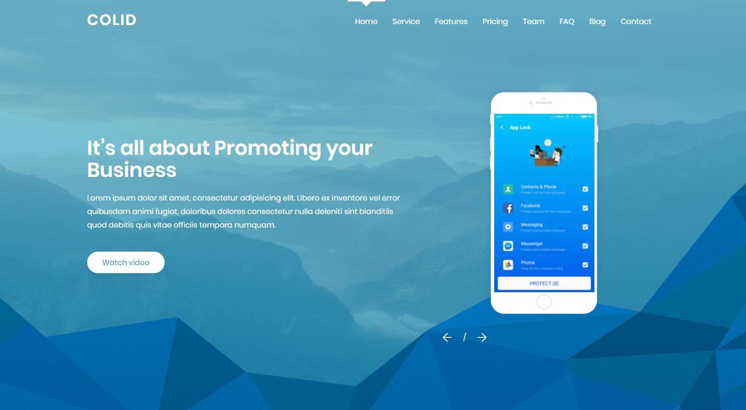 Colid: A Mobile App Landing Page
