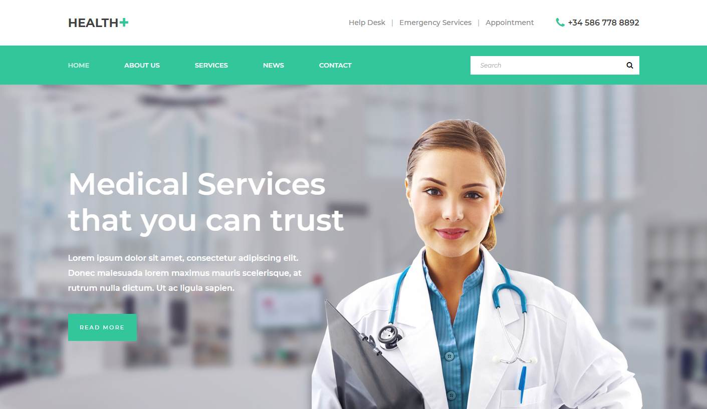 Health: a Free Medical Clinic Website Template