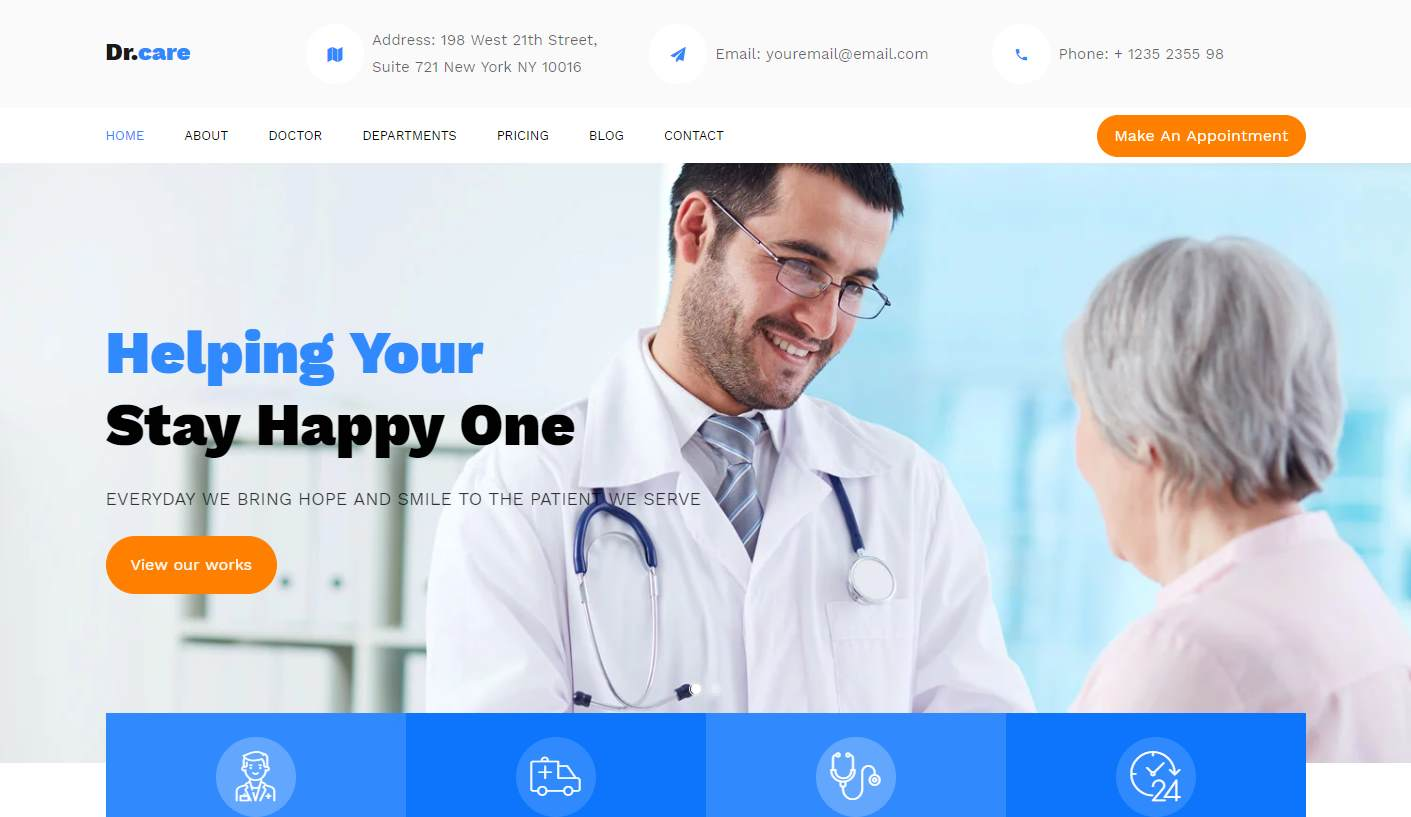 DrCare: a Multi-Purpose Free Healthcare Website Template
