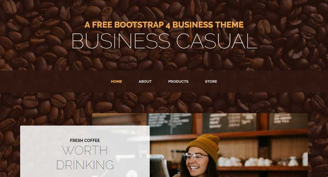 Business Casual: A Full Page Template