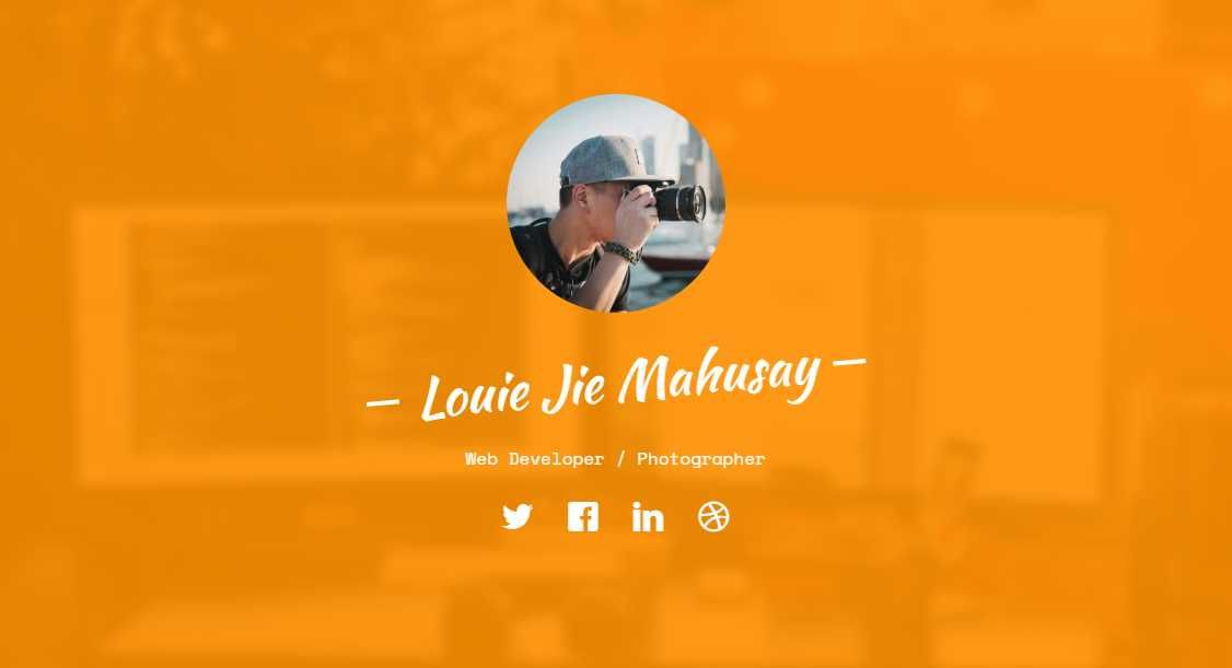 Profile: A Free HTML5 Bootstrap Template for Personal Websites