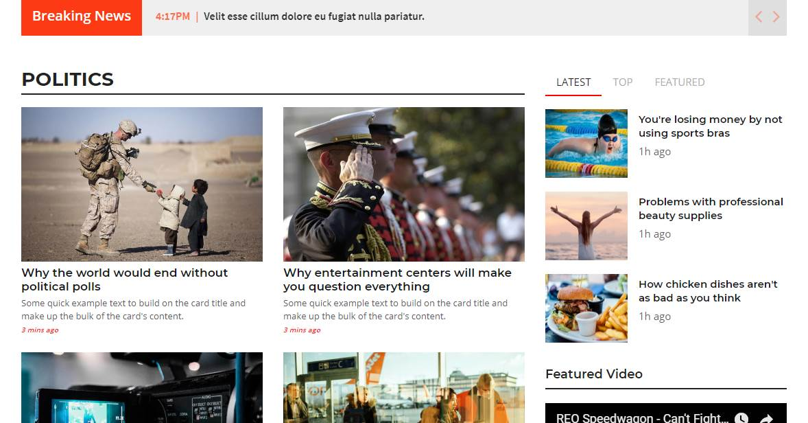 River: A Magazine/News Bootstrap Template