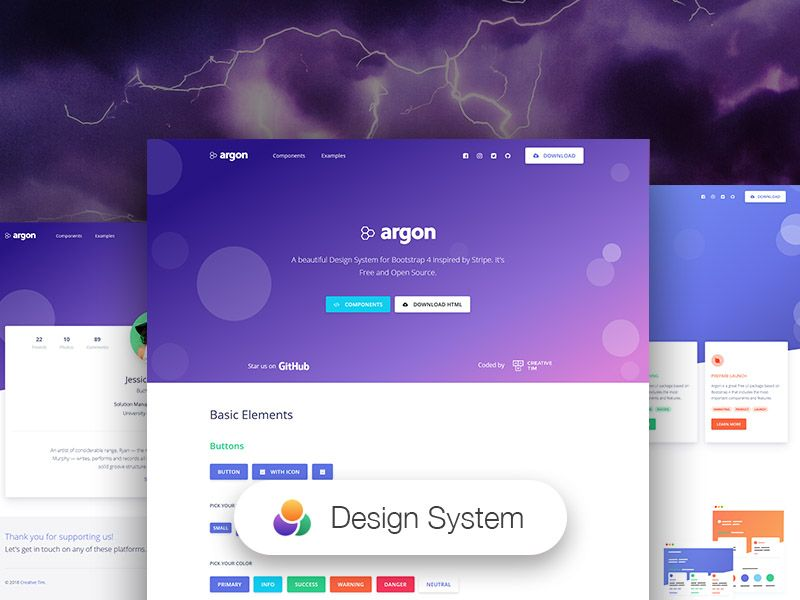 Argon Open Source Bootstrap 4 Based Design System Admin Templates Best Free Html Css Templates