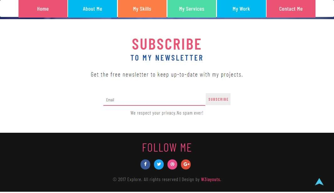 Explorer: Personal Curriculum Website Template