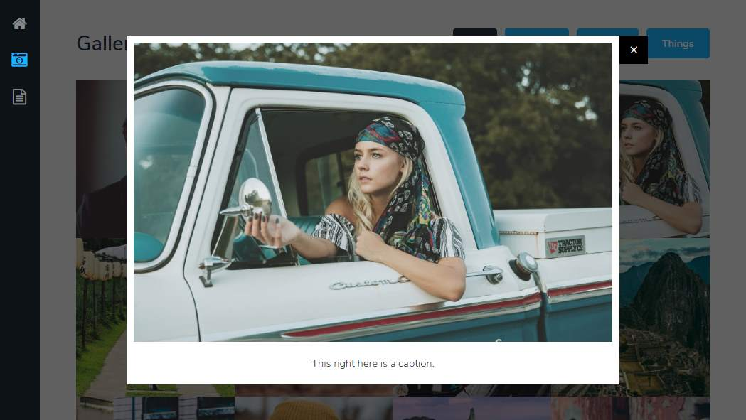 Snapshot: a fully responsive gallery template