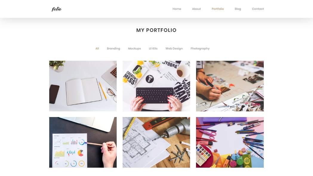Folio: A Bootstrap Based Showcase Portfolio