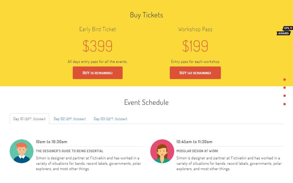 Meetup: Event Free Responsive Landing Bootstrap Homepage