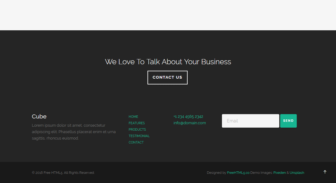 Cube: Free HTML5 Bootstrap Website Template