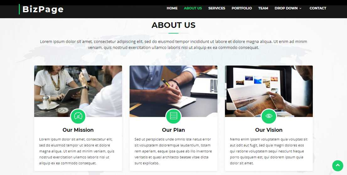 BizPage: A Bootstrap Based Business Template