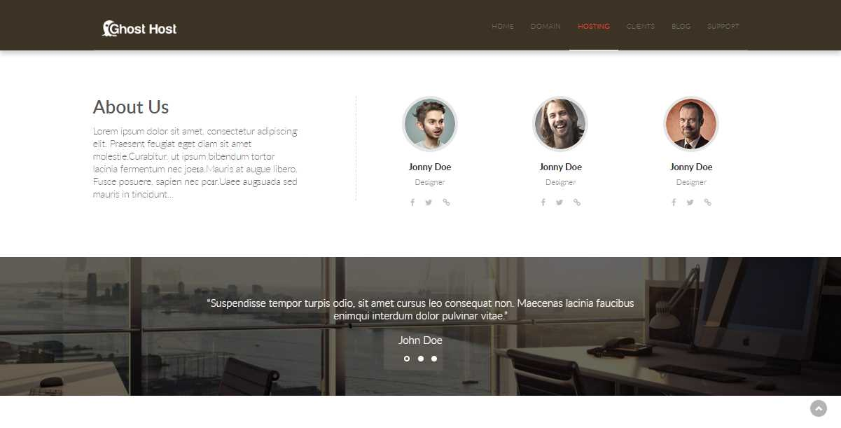 Ghost Host: A Basic Html Hosting Template