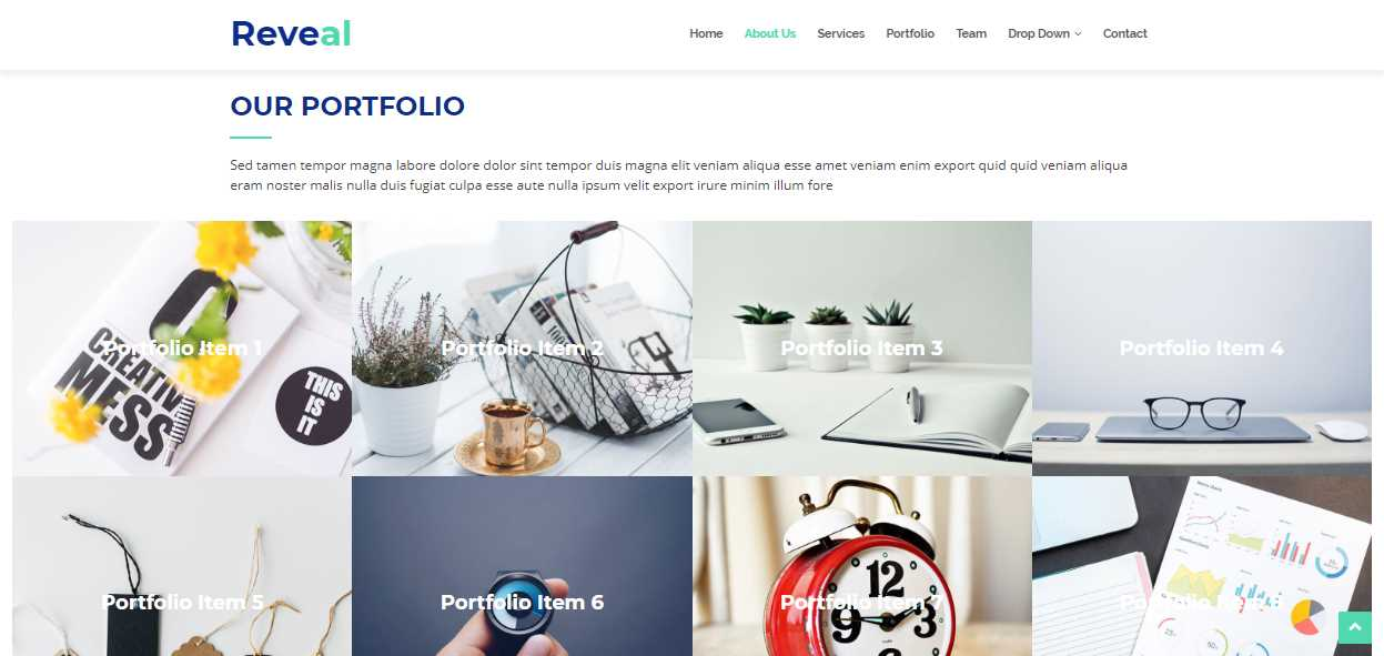 Reveal: A Corporative Business Bootstrap Template