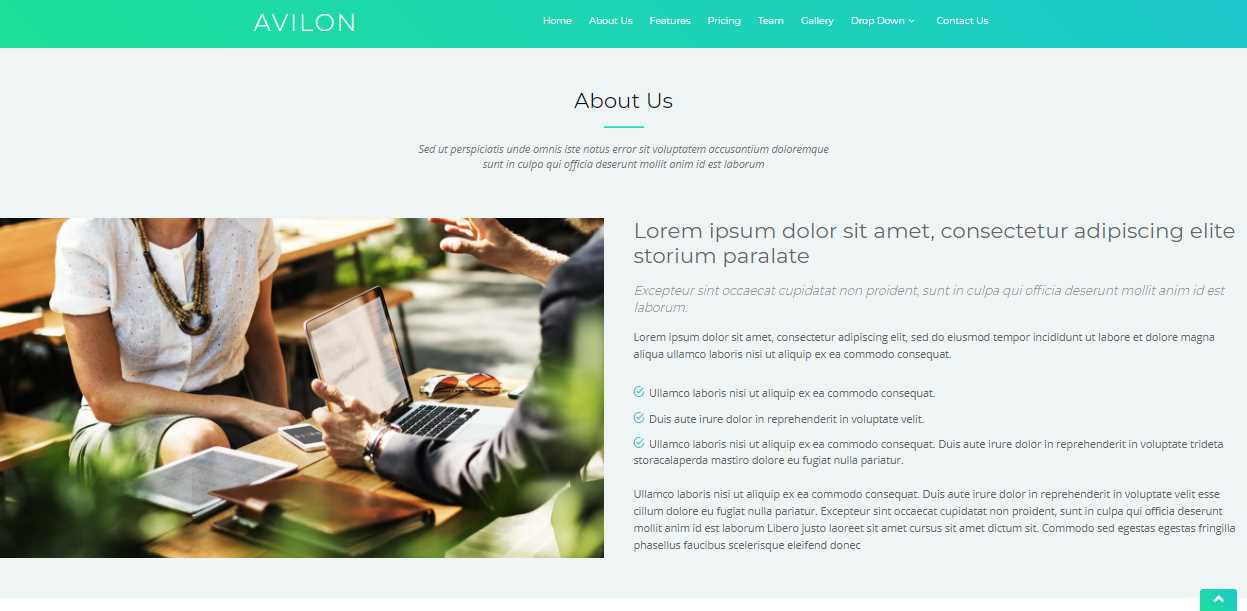 Avilon: A Free Bootstrap Landing Page Template