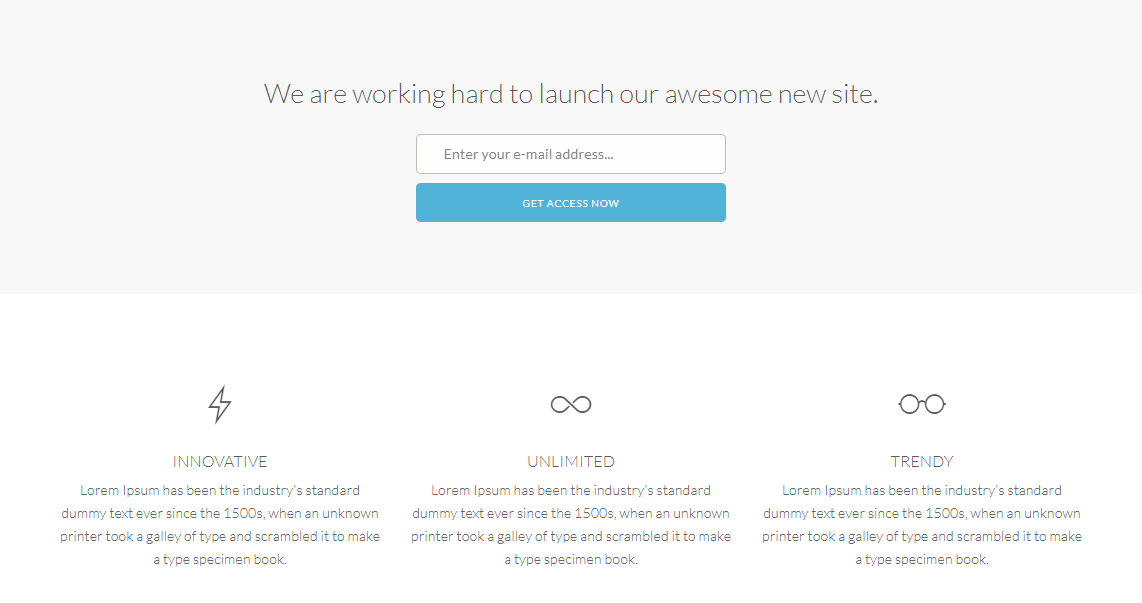 Opening: A Website Under Construction Template