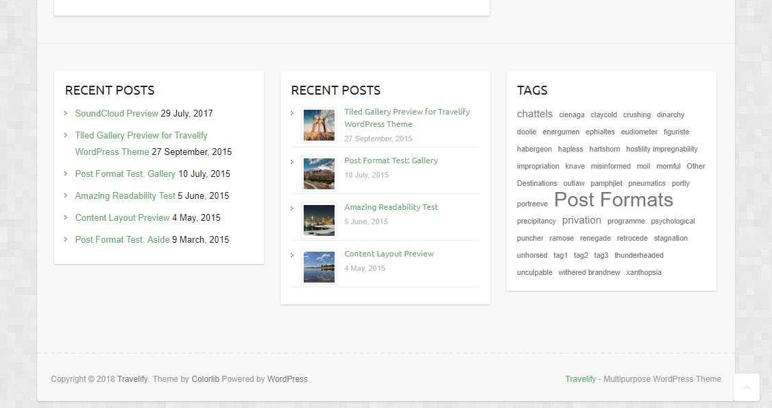 Travelify: An Awesome and Responsive Travel WordPress Theme