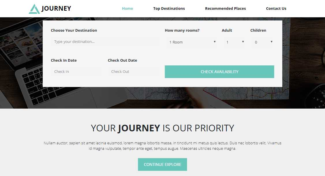 Journey: Travel and Tour HTML5 template