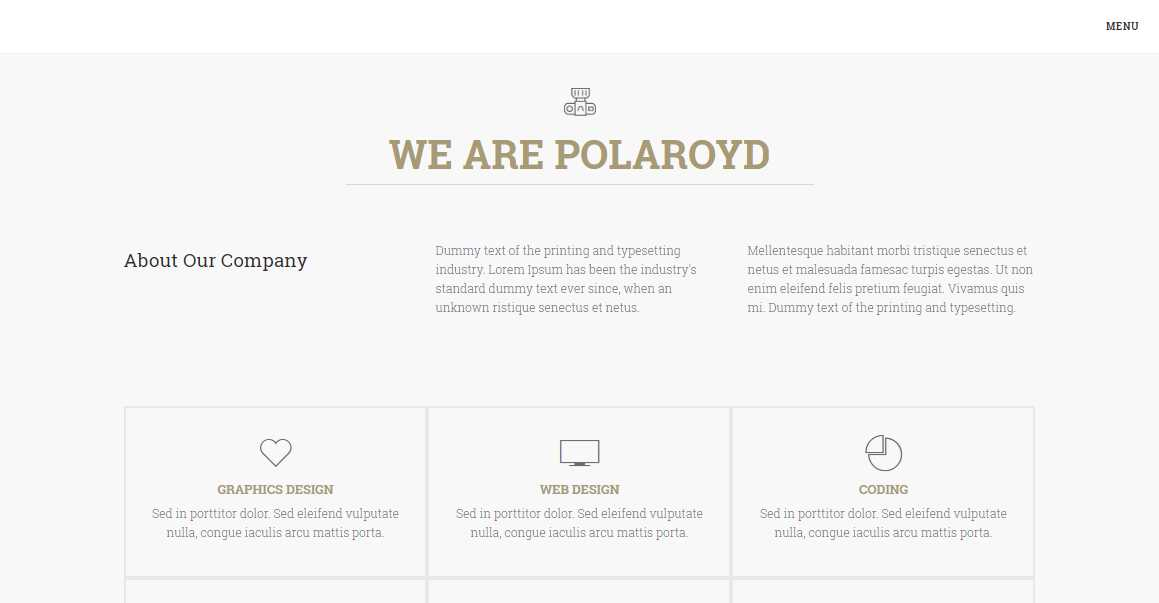 Polaroyd: An Image Bootstrap Agency Template