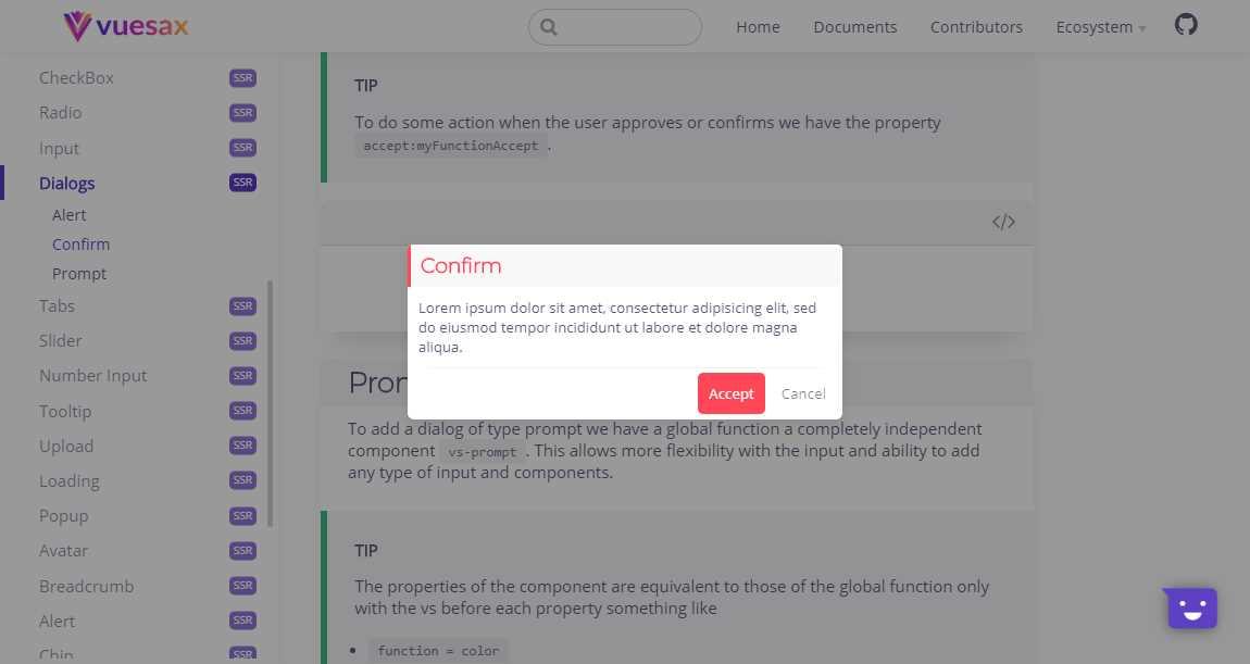 Vuesax: A Frontend Vue Components Kit