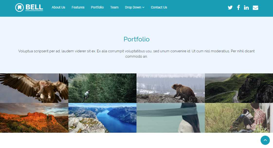 Bell: A Free Multipurpose Bootstrap 4 Template