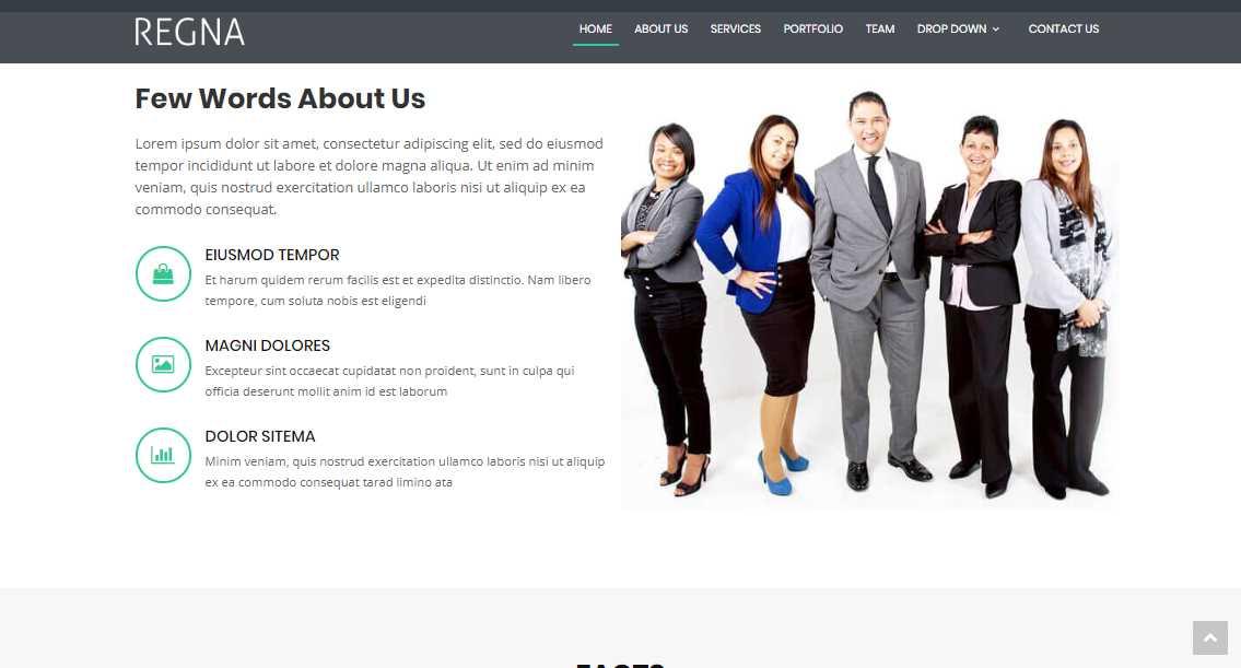 Regna: A Free Company Bootstrap Theme