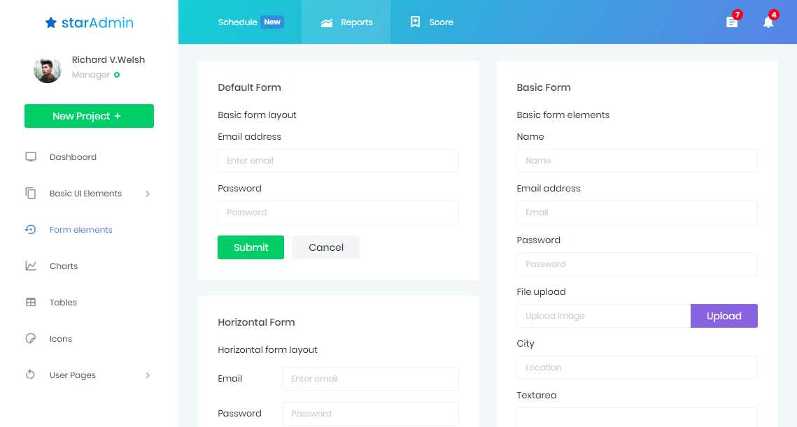 Star Admin: A Free Bootstrap 4 Admin Template