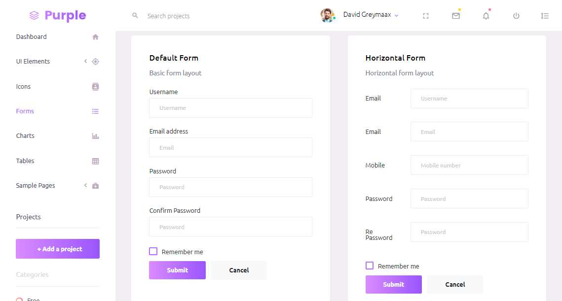 Purple: A Free Bootstrap 4 Admin Template