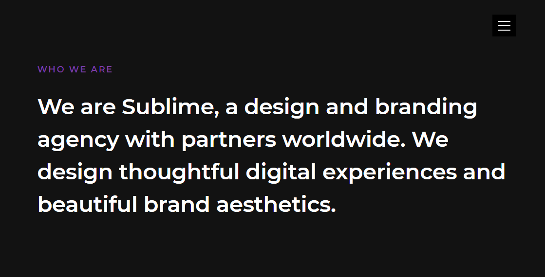 Sublime: A Free Creative Agency Website Template