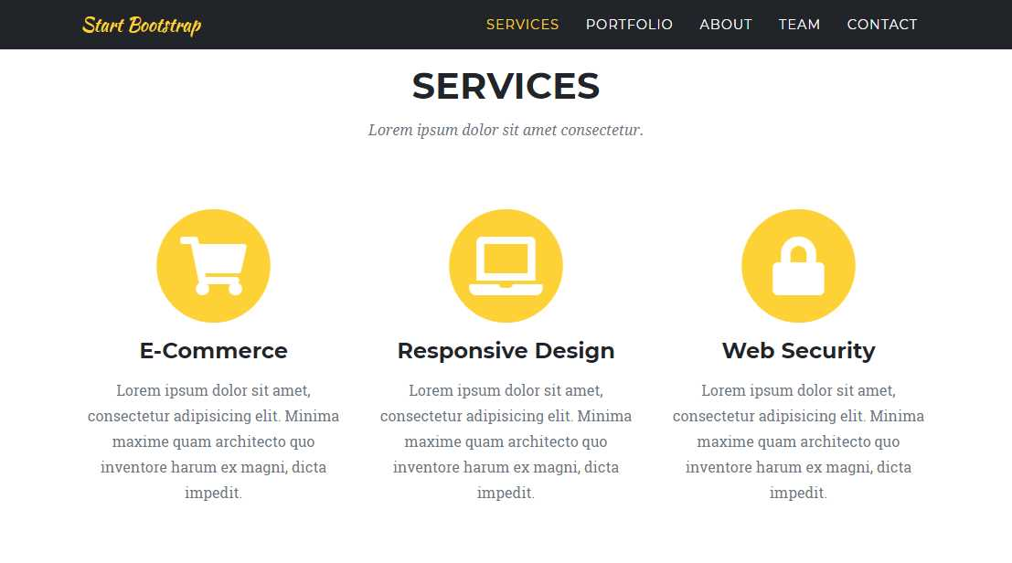 Agency: A One Page Bootstrap Theme