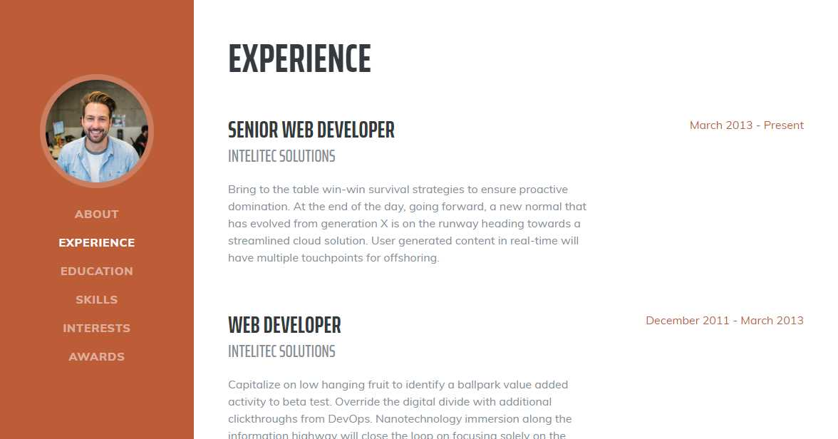 Resume: A Free CV Template