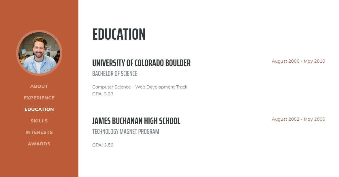 Resume: A Free CV Template