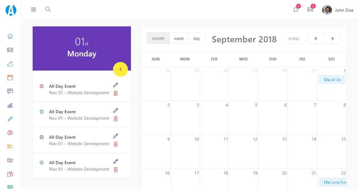 Adminator: A Free Bootstrap Admin Dashboard