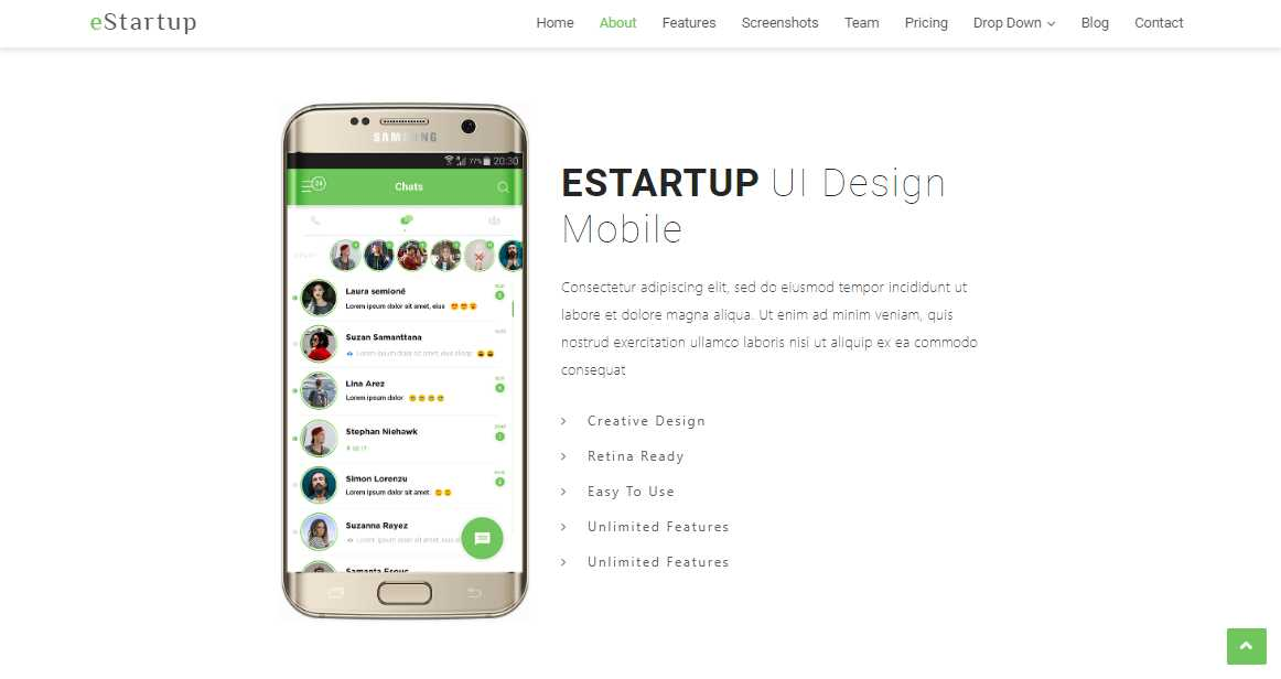 eStartup: An Elegant Bootstrap Template for Startups and Apps