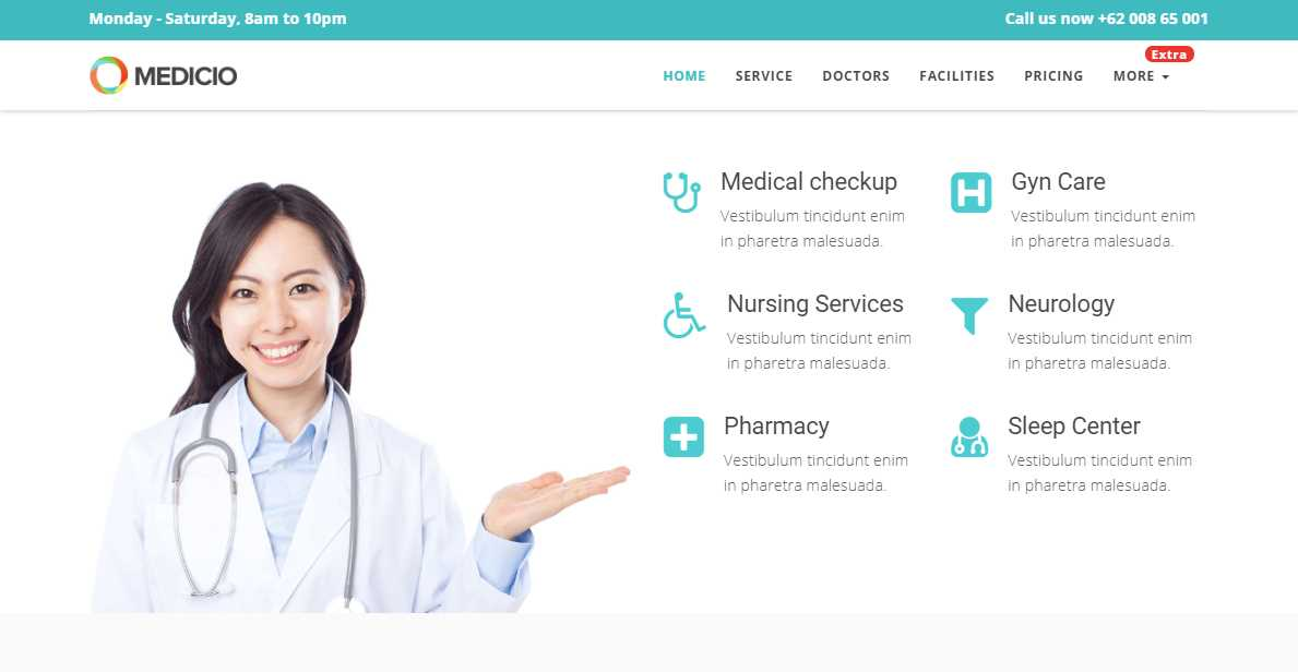 Medicio: A Free Medical Website Template