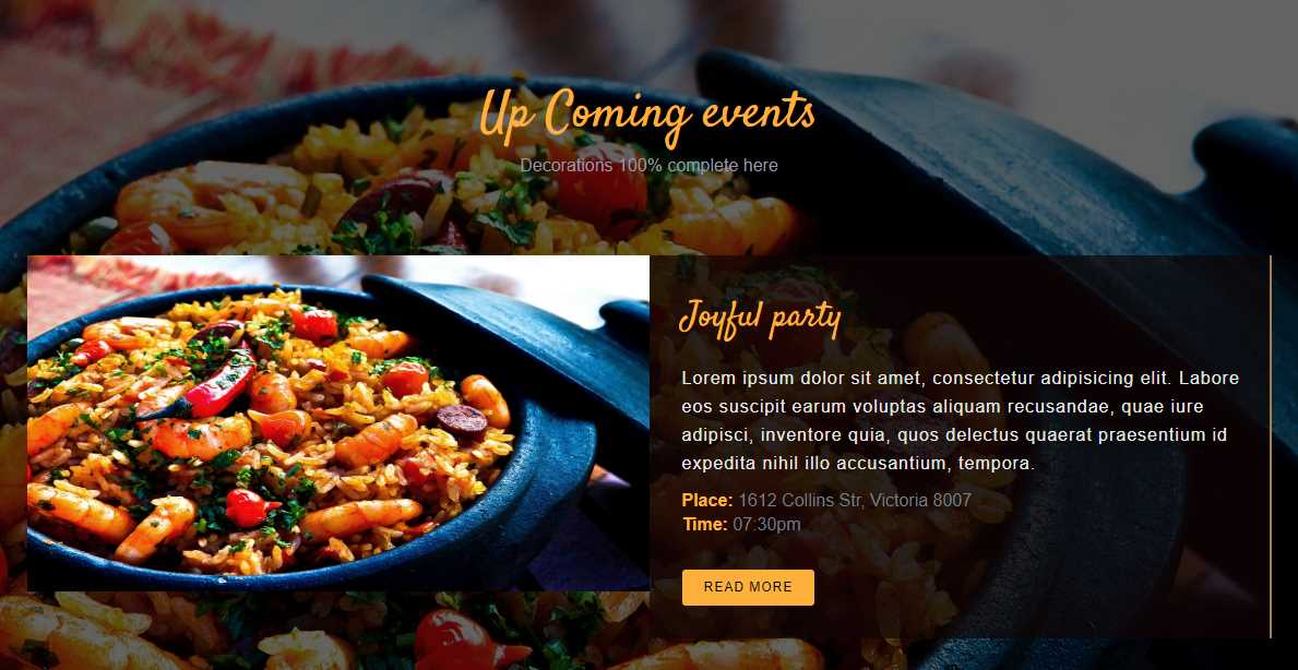 Delicious: A Free Restaurant Bootstrap Template