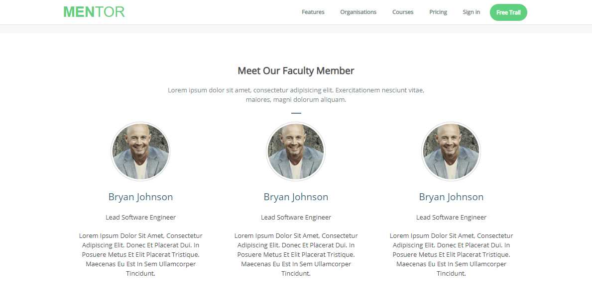 Mentor: A Free Educational Bootstrap Theme