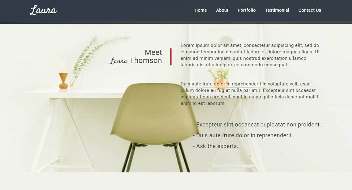 Laura: A Free Creative Bootstrap Theme