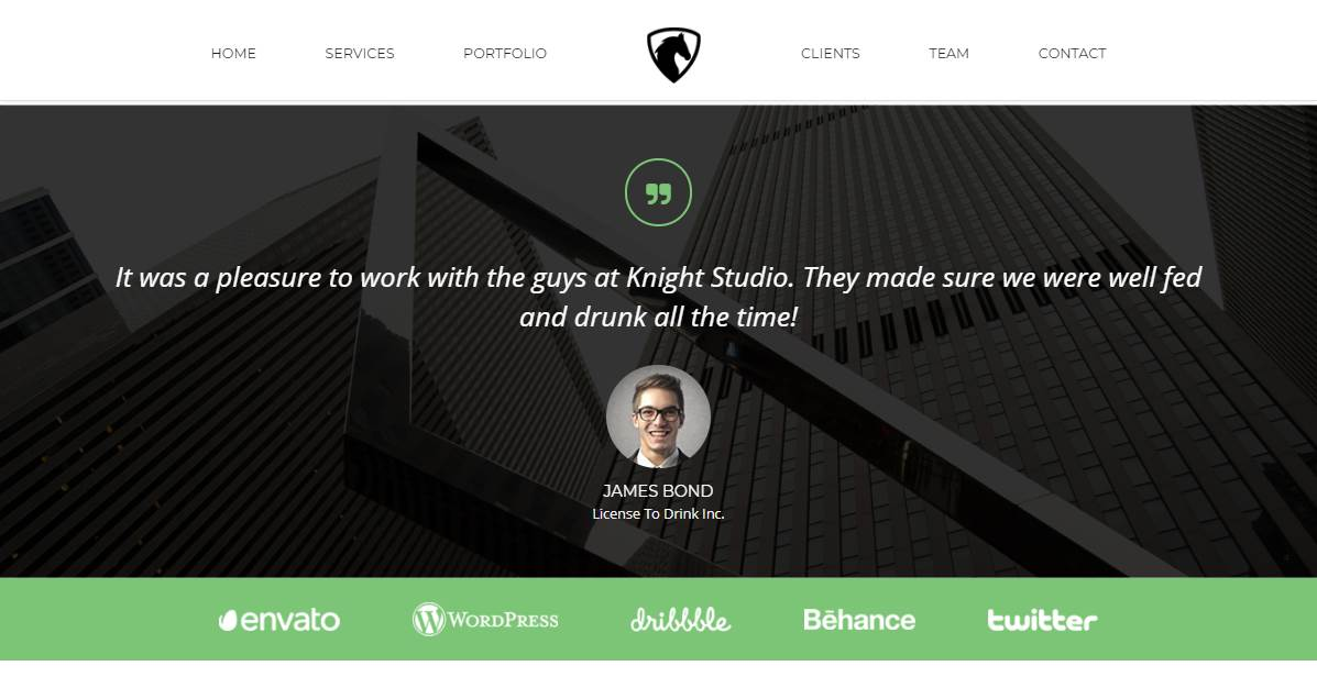 Knight: Free Bootstrap Theme