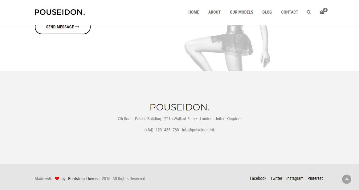Pouseidon: A HTML5 Model Agency Template