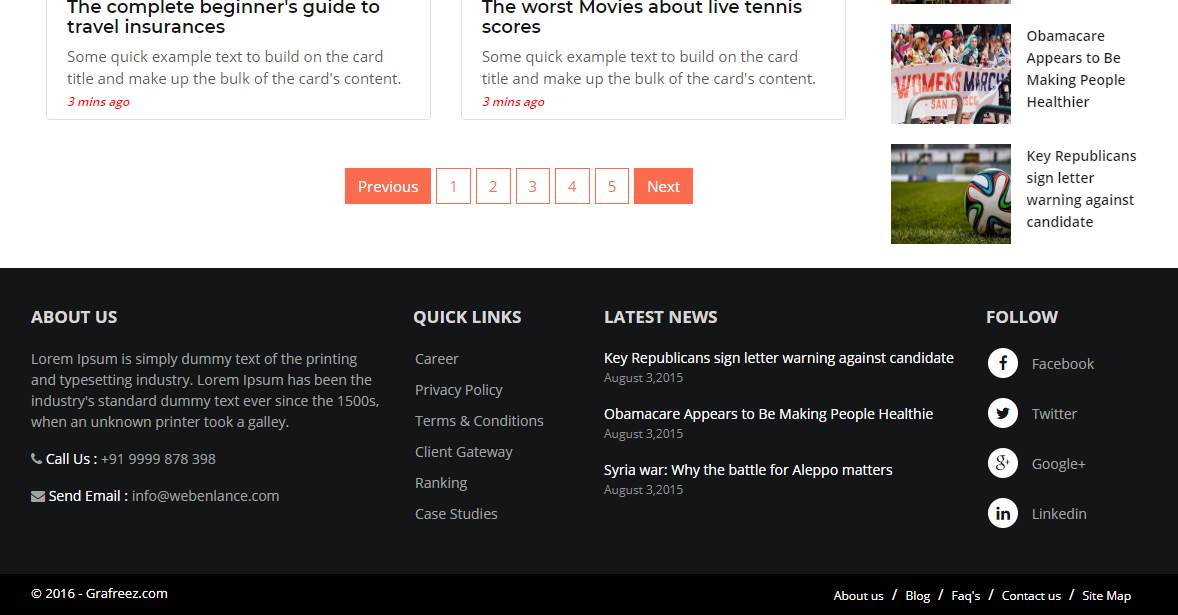 River: A Magazine/News Bootstrap Template