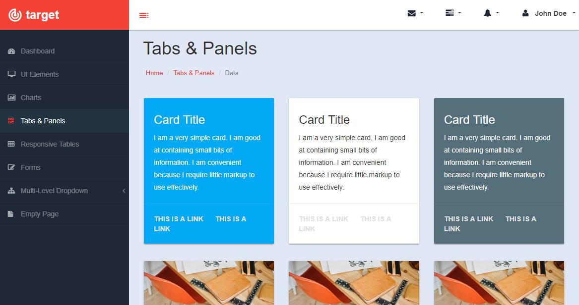 Target: A Responsive Bootstrap Admin Template