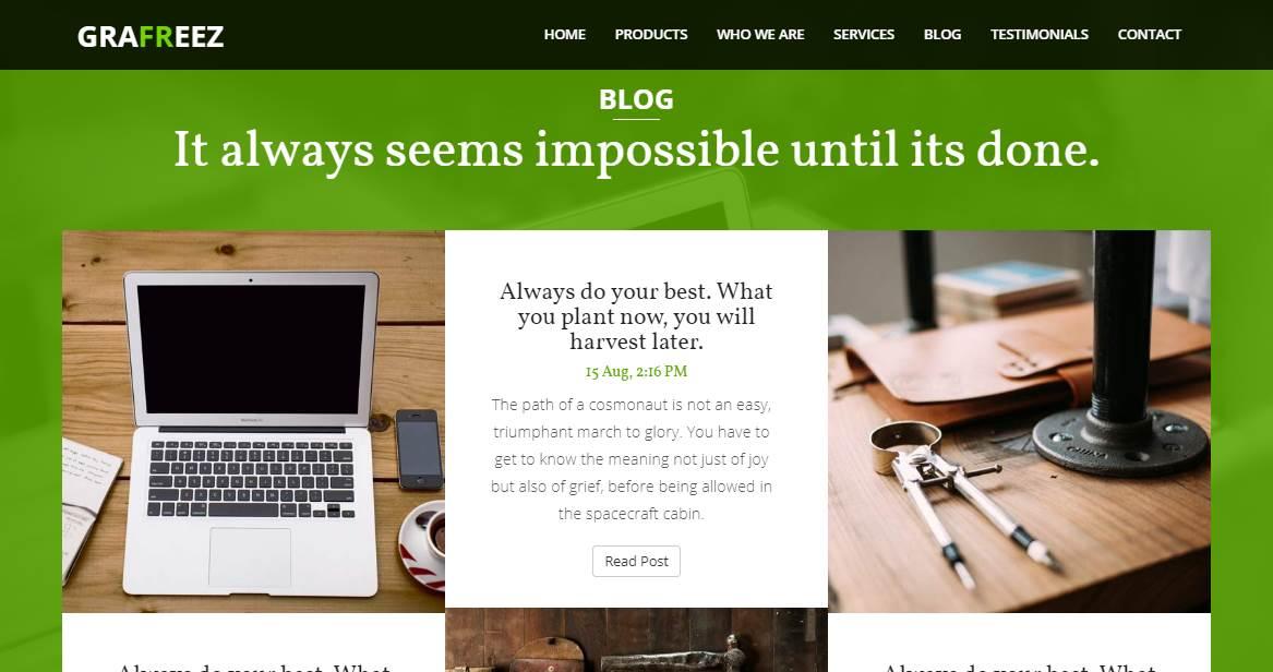 Buzz: A Bootstrap Business Template