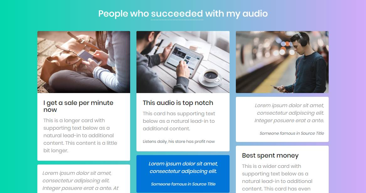 Audio: A Bootstrap Musical Landing Page