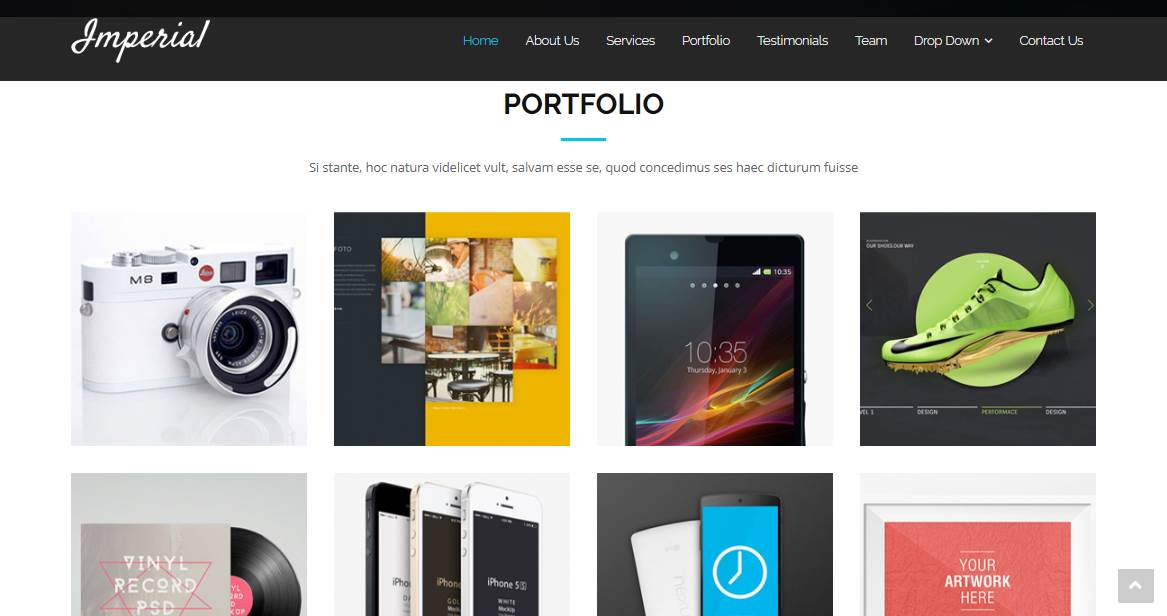 Imperial: A Free Onepage Bootstrap Theme