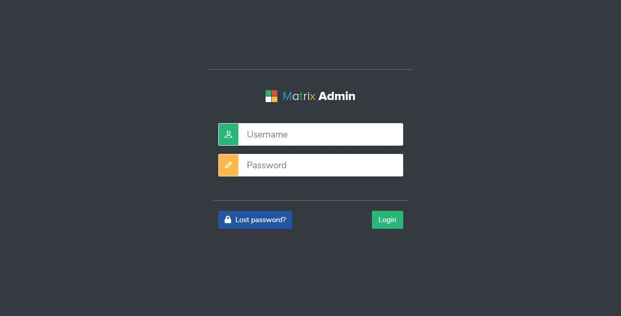 Matrix Admin: An Userfriendly Admin Interface For Applications