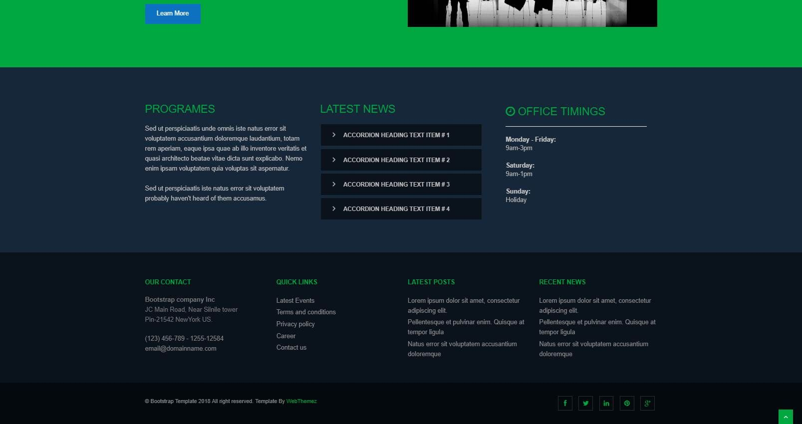 Green: A Free Web Hosting Website Template