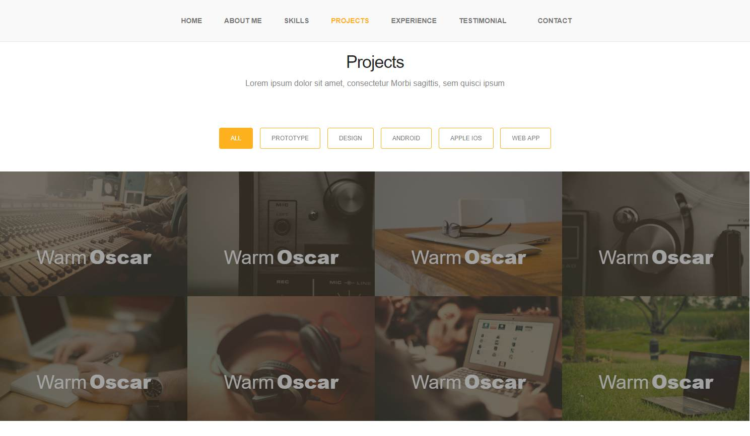 Andey: A Responsive Bootstrap Portfolio Web Template