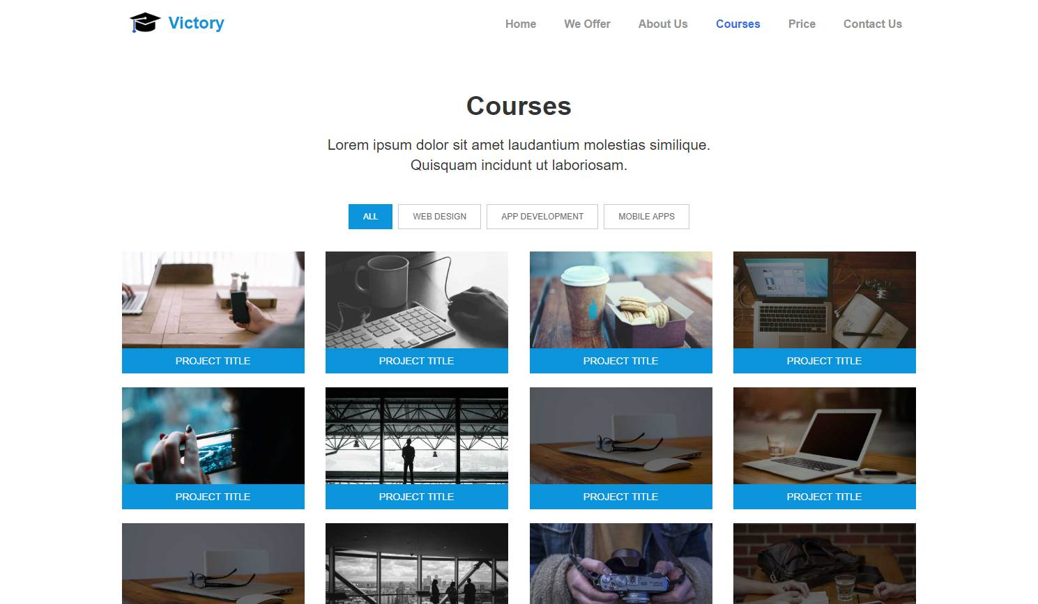 Victory: An Educational Responsive Template