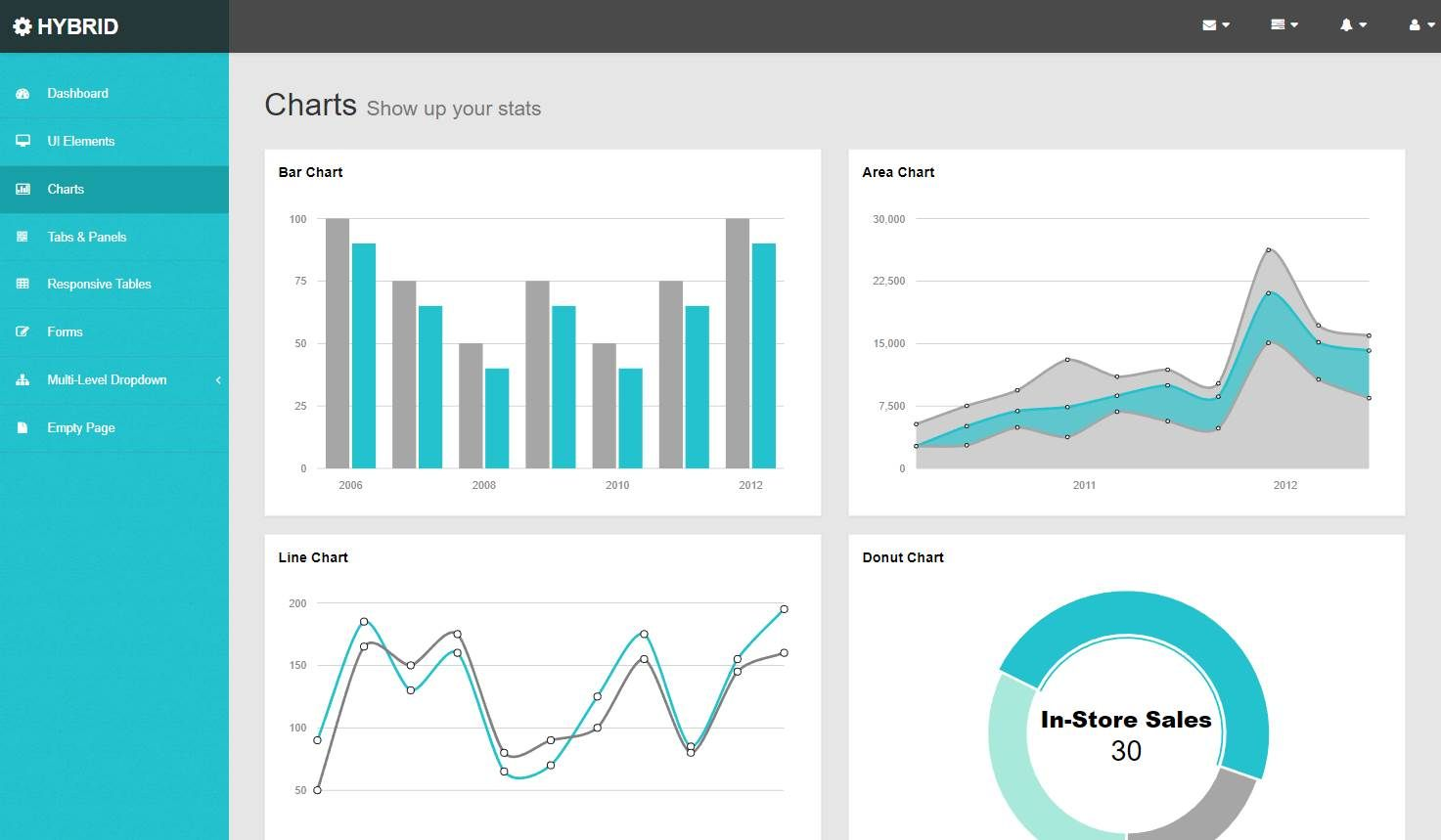 Hybrid: A Modern Bootstrap Admin Template