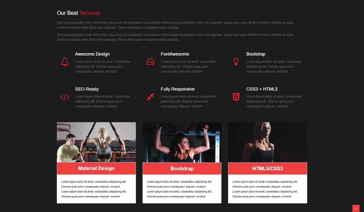 Shape: A Free Fitness Website Template